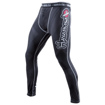 Metaru 47 Silver Compression Pants Black